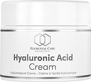 Crema Facial de Acido Hialuronico Vegano 50ml de la Más Alta Calidad - Crema Antiarrugas para Mujer y el Contorno de Ojos ...