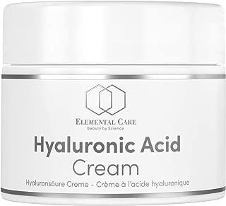 Crema Facial de Acido Hialuronico Vegano 50ml de la Más Alta Calidad - Crema Antiarrugas para Mujer y el Contorno de Ojos con Vitamina E - Cosmetica Natural Hecho en Alemania