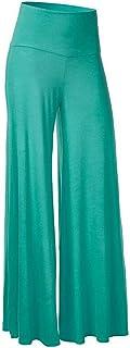 Damkläder kvinnors enfärgade hög midja breda ben byxor casual plus size byxor byxor