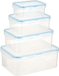 Harmony 2724623279244 Storage Box Food Container Set of 8 Pieces, Multi-Colour, W 22.6 x H 16.8 x D 9.0 cm