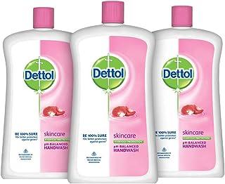 Dettol Skincare Germ Protection Handwash Liquid Soap Jar, 900ml (Pack of 3)