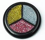jofrika Maquillaje – Glitter de Trio – Plata de oro de c