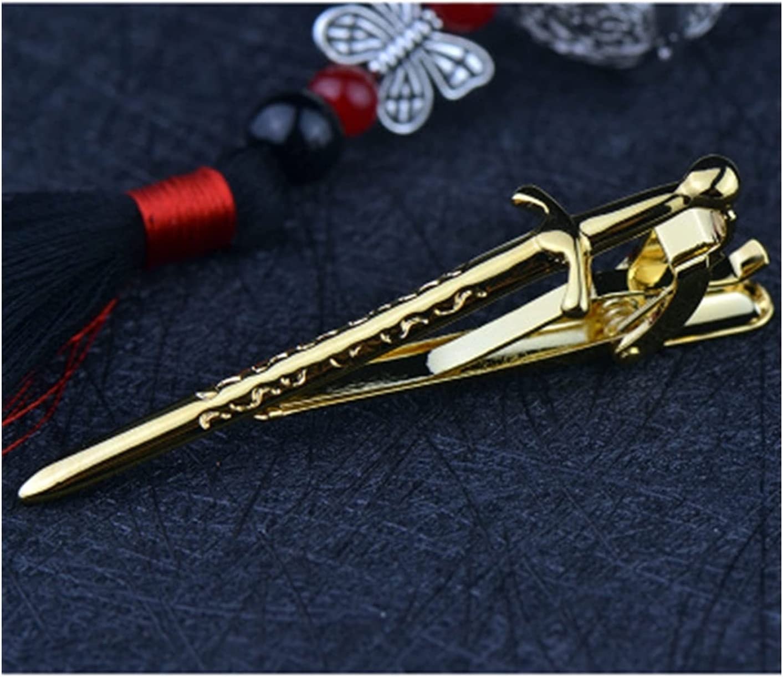 ZQDMBH Tie Clips,Tie Bar Clip Metal Tie Clip Men's Daily Accessories Personality Simple Novelty Tie Clip (Metal Color : Gold-Color)