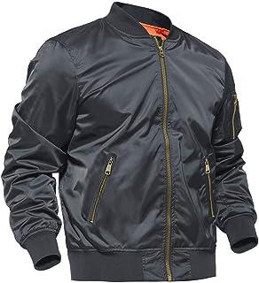 BIYLACLESEN Men`s Winter Coats Thicken Flight Bomber Jacket Outdoor Sportswear