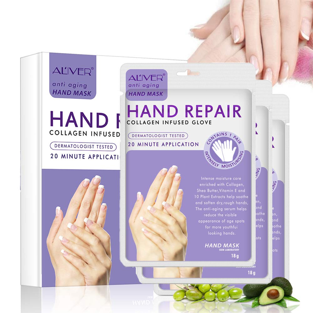 Hand Mask 3 Inexpensive Pack Moisturizing for unisex and Hands Dry Rough