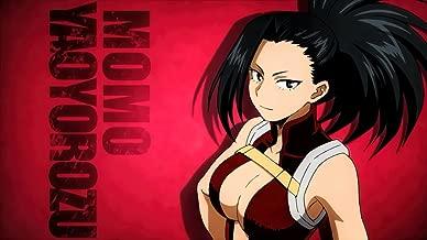 TianSW YAOYOROZU MOMO (43inch x 24inch/107cm x 60cm) My Hero Academia Season 3 Midoriya Izuku All Might Waterproof Poster No Fading