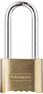 Master Lock Padlock, Excell® Stainless Steel Titanium Reinforced Discus Padlock with Shrouded Shackle, High Security Lock,...