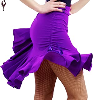 COSCOO Fashion Latin Dance Active Skorts Plus Size Ballroon Tango Swing Rumba Women Dance Skirt