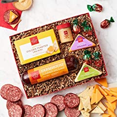 Hickory Farms Meat & Cheese Sampler is full of timeless favorites so you can build your favorite flavor combination on top of the Golden Toasted Crackers for the ultimate snack. (1) Farmhouse Summer Sausage 10 oz. Smooth & Sharp Cheddar 2 oz.& Three ...