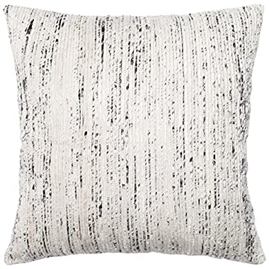 Loloi POLY SET PSETP0242SIMLPIL3 Cover with Poly Fill Decorative Accent Pillow, 22  x 22 , Silver/Multicolor