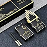 Green Tea Herbal Cigarettes Peony Tea Smoke, Chinese Herbal Cigarettes Smoke-Free and Nicotine-Free, Cigarette Substitutes (Legend of Black (Rich and Fragrant Taste),1 Pack)