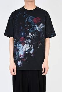 LAD MUSICIAN 42 花柄 Tシャツ ビッグ 2119-706 黒 ブラック ダーク Alexandros 川上洋平 STUDIOUS 19SS