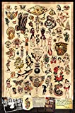 Sailor Jerry Tattoo Flash (Style A) Poster 24x36' (60.96 x 91.44 cm) A Certified PosterOffice Print with Holographic Sequential Numbering for Authenticity