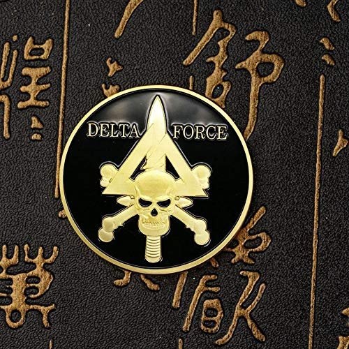 Exquisite Collection of Commemorative Coins United States Special Forces Delta Force Medal Skull Coin Military Foreign Currency Challenge Coin Collection Gold Coin Used for Hobby Coin Collection