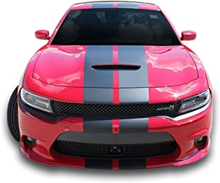 Bubbles Designs Decal Graphic Sticker Stripe Body Kit Compatible with Dodge Charger 2011 2012 2013 2014 2015 16