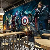 3d Captain America Avengers Garçons Chambre Photo Fonds D'écran Marvel Comics...