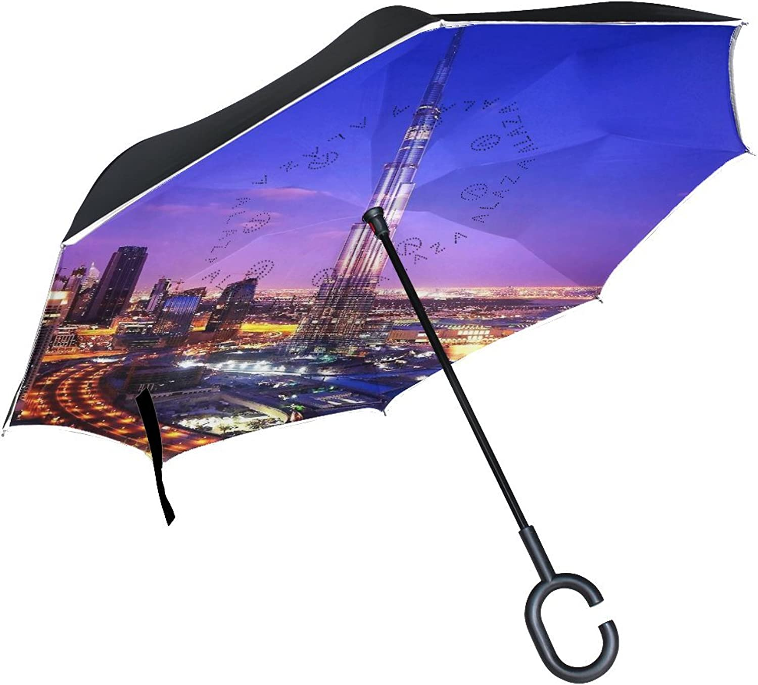 Countriy UAE Ajman Commercial Panoramic Spectacular Landscape Grand Awesome Ingreened Umbrella Large Double Layer Outdoor Rain Sun Car Reversible Umbrella