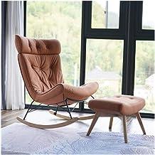 LJBH Rocking Chair Creative Recliner Balcony Single Nap Balcony Lazy Couch, Rocking Chair, Rocking Chair + Footstool comfo...