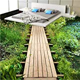 rylryl Piso personalizado grande prado fresco granada tablón puente baño baño dormitorio pintura de piso 3d-400x280cm