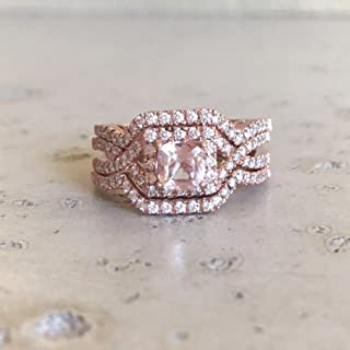 edwardian morganite rings