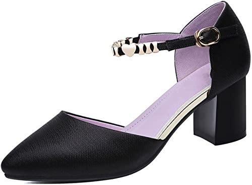 DKFJKI Damen Schnalle Sandalen Metall Ferse Schuhe Stilvolle Einfachheit Wild