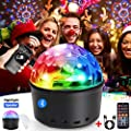 Disco Lights, infinitoo 9 Colors Sound Activated Party Lights with 2 in 1 USB Cable&Remote Control Wireless Dj Lighting Stage Timed Mood Light Stage Light Home Dance Birthday DJ Bar Xmas Show Club