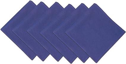 DII 100% Cotton, Oversized Basic Everyday 20x 20 Napkin, Set of 6, Blueberry