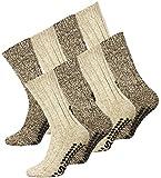 Lote de 2o 4pares de calcetines noruegos en lana conpuntos antideslizantes 2 Paires 35/38