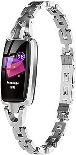 TOOGOO Women Smart Watch,Dr66 Sport Watch Wristband Waterprof Bracelet Calorie Counter, Pedometer Watch for Women -Silver