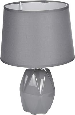 HOMEA 6LCE133GR LAMPE, CERAMIQUE, 40 W, Gris, DIAMETRE20H29CM