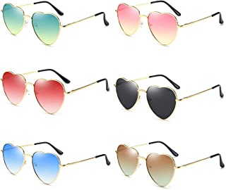 Dollger Heart Sunglasses Thin Metal Frame Lovely Heart...