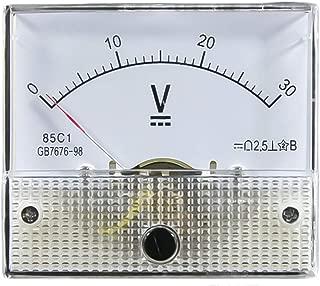 85C1 DC Voltmeter Volt-Spannungspr/üfer Modell 5V 10V 15V 20V 30V 50V 75V 100V 150V 200V 250V 300V 450V 500V Mechanical Gauge 1Pcs 64 * 56mm analoge Anzeige rechteckig