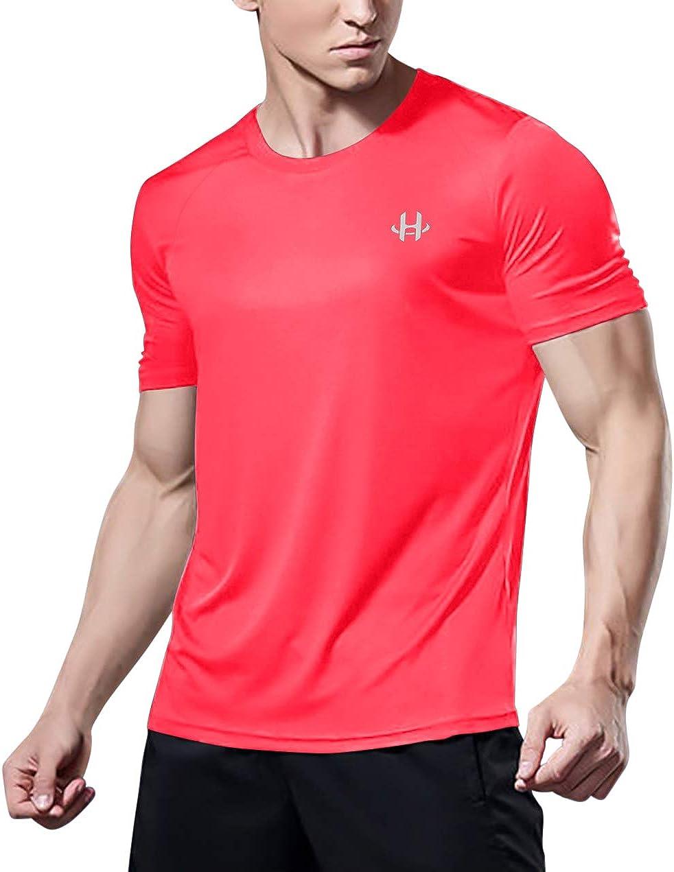 H Hellisal Surprise price Men's Quick Dry Short favorite Athletic T-Shirt Sleeve Gym Act