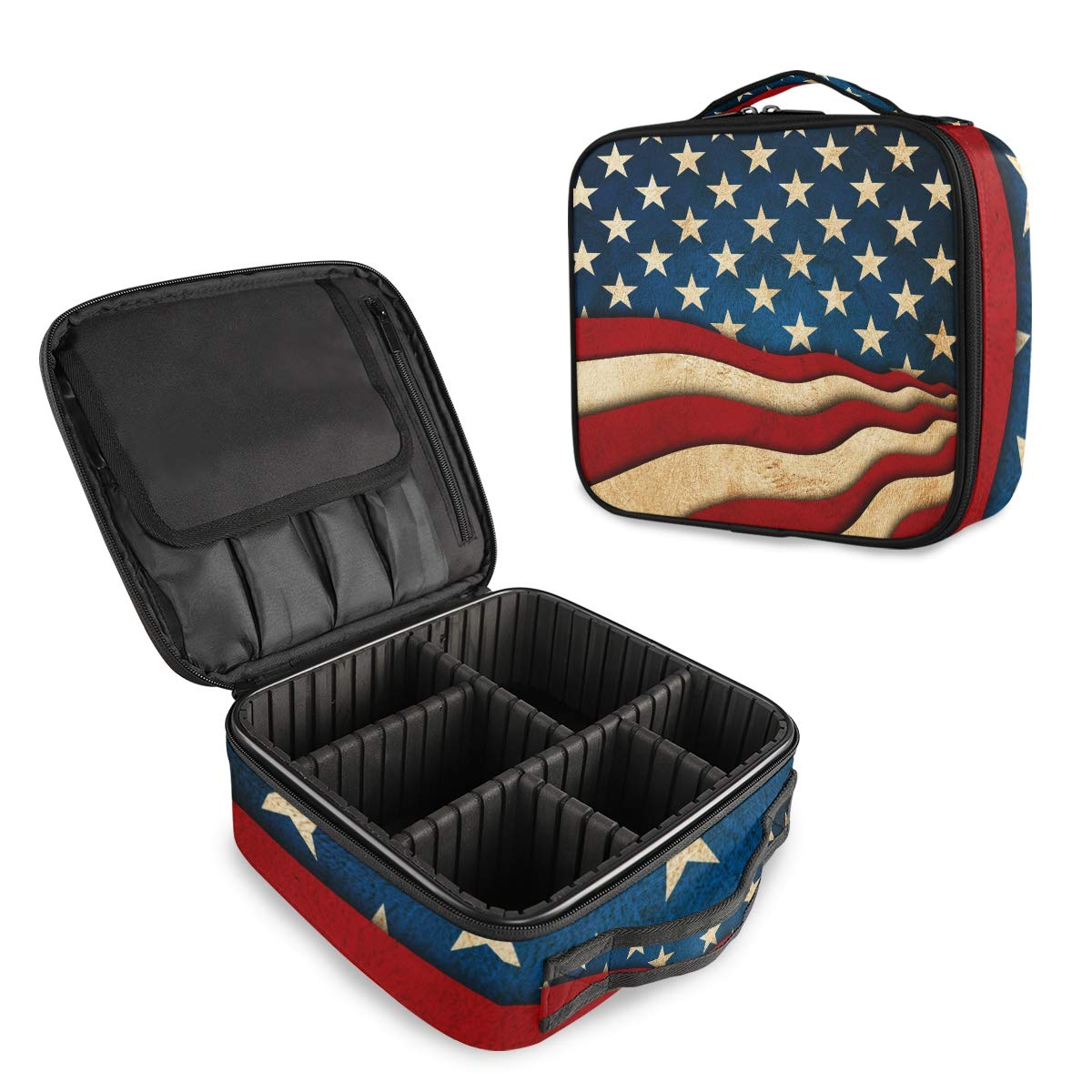 HousingMart Very popular! Rapid rise Travel Makeup Bag American Vintage Cosme Flag