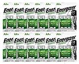 Energizer Power Plus AA - Pilas Recargables, Color Plateado - Caja de 12 Blister de 4 Pilas (Total 48 Pilas)