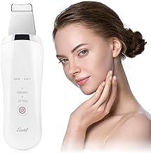 Skin Scrubber Ultrasonic Hautreinigungsgerät Mitesserentferner Porenreiniger Gesichtsreinigung Peeling mit EMS Massage für Gesicht, Ultraschal Gesicht Scrubber mit Heizfunktion, USB Kabel Heimgebrauch