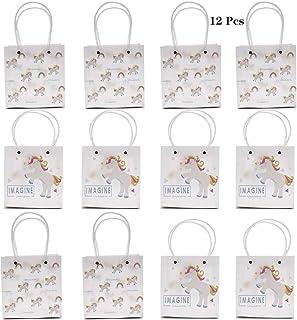 Amycute 12PCS Bolsas del unicornio, Bolsa de regalo transparente material PP para Decoración de Fiesta