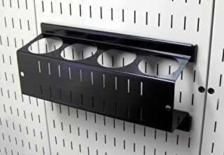 Wall Control Pegboard Spray Can Holder Bracket and Aerosol Can Organizer for Wall Control Pegboard and Slotted Tool Board – Black