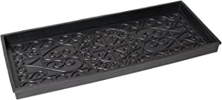 BirdRock Home Rubber Boot Tray | 34 inch Decorative Boot Tray | Waterproof for All Weather Indoor or Outdoor Use | Dog Bowl Tray