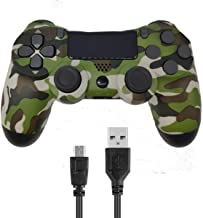 Donop Wireless Controller for PS4, Game Remote Joystick Compatible with Playstation 4 Slim Pro Console(Green Camouflage)