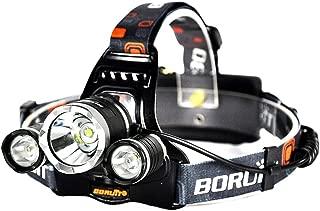 Boruit RJ-3000 LED Headlamp Headlight with Red Light Rechargeable Waterproof Flashlight