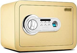 金庫 金庫のために安全キャビネット、小型低炭素合金鋼指紋パスワードホームオフィス盗難防止金庫キャビネット金庫から選択する2色 Safebox (Color : Gold)