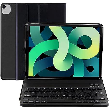 【2021最新版】 iPad Air4 10.9インチ/iPad Pro 11インチ 第1世代/第2世代 キーボードケース iPad保護ケース 一体式Bluetoothキーボード 超軽量 超薄型 ipad air 第4世代 2020 保護カバー 一年間安心保証付き 日本語説明書付き (ブラック)