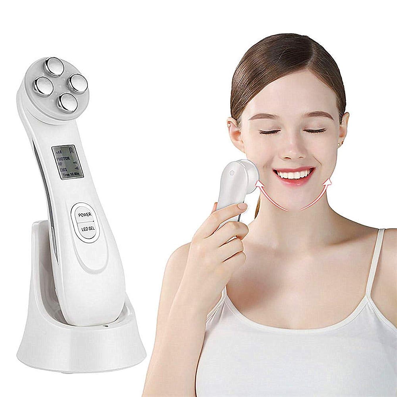 霊スローマキシム顔スキン EMS メソセラピーエレクトロポレーション RF ラジオ周波数顔 LED フォトンスキンケアデバイスフェイスリフティングは、美容ツールを締めます