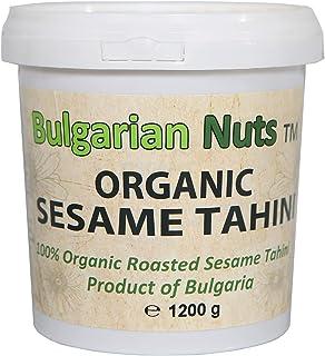 1,2 kg Biologische Sesamtahini van 100% hele zaden, vrij van - gluten, emulgatoren, palmolie, suiker, conserveermiddelen
