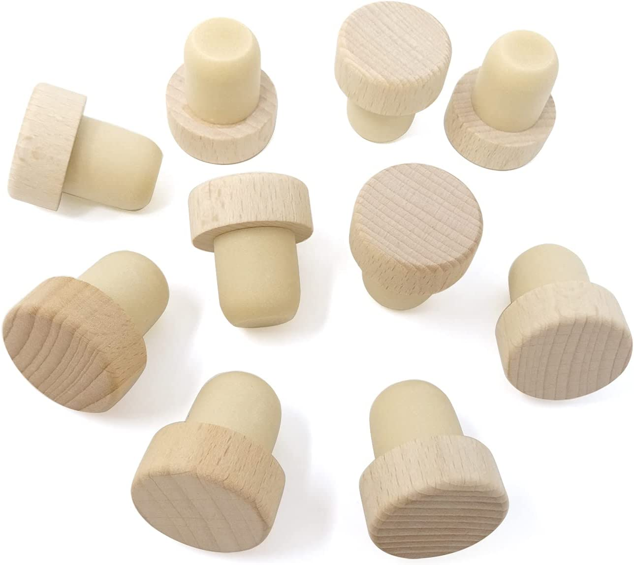 Honbay 10PCS Free shipping on posting reviews Wine Stoppers Bottle Cor Corks T-plug Special price