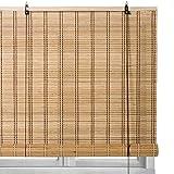 Estor Enrollable Beige de láminas de bambú rústico de 90x180 cm - LOLAhome