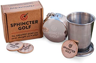 Sphincter Golf Game Set. Party Game, Novelty Gift, Awkward Family Gatherings, White Elephant, Gag Gift. Absurd Yet Highly Amusing.
