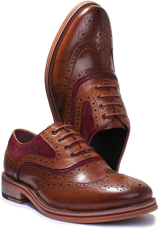 Justin Reece Bryan Mens Leather Matt shoes (8 UK, Leather)