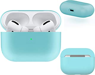 DamonLight AirPods Pro Case 4 Layers Protective Liquid Silicone [Front LED Visible] [Dust Free] Shock Proof Cover for Airp...